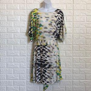 BCBGMaxazria paint strokes dress